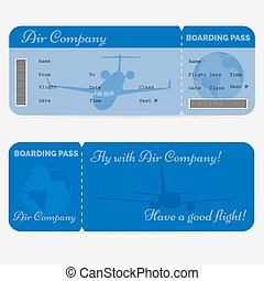 Variant of airline boarding pass