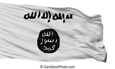 Variant The Islamic State Flag Isolated Seamless Loop - ...