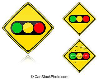 Variants a Traffic lights - road sign