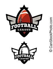 variants., amerikanische , zwei, football.