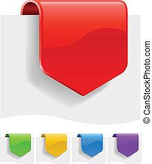variants., couleur, différent, escompte, étiquettes, vide