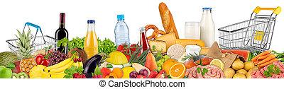 variation of food and beverages - fresh variation of food...