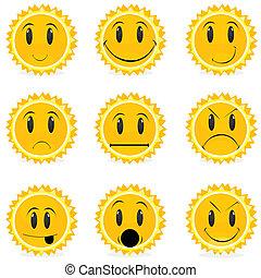 variations in moods - illustration of kinds of moods