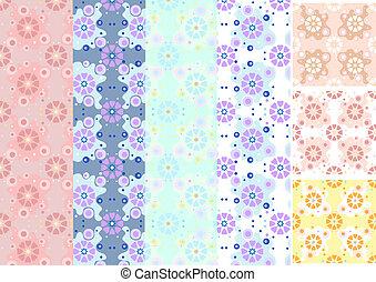 Variations of floral seamless backg
