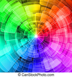 Varicolored - Seamless multi-colored spherical abstraction. ...