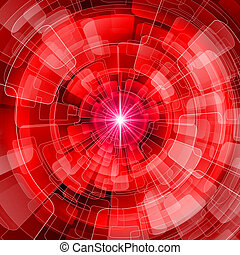 Varicolored - Seamless red spherical abstraction. The disco ...