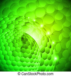 Varicolored - Seamless spotted green spherical abstraction. ...