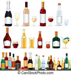 variedad, bebidas