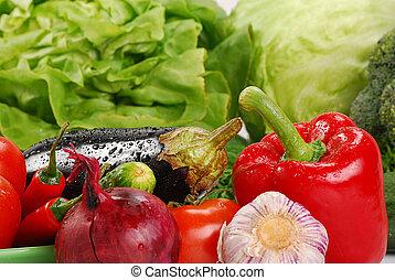 variedad, de, verduras crudas