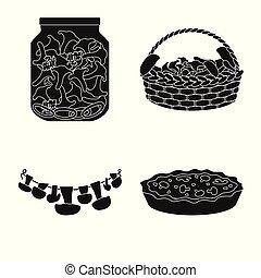 variedade, alimento, símbolo, objeto, web., isolado, cobrança, icon., ingrediente, estoque