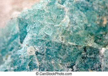 variedade, amazonite, bluish-green, feldspar, microcline