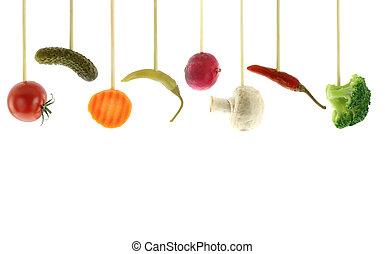 variedade, de, legumes frescos