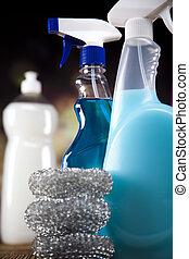 variedade, de, limpeza, produtos