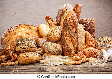 variedade, de, pão