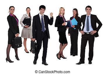variedade, de, pessoas negócio