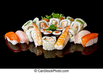 variedade, de, sushi