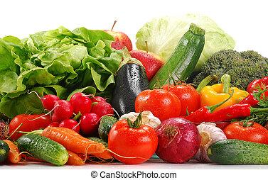 variedade, de, verduras cruas