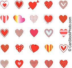 variedade, forma coração