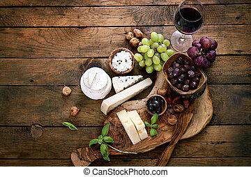 variedade, queijo