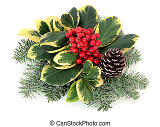 Variegated Holly Decoration - Variegated holly decoration...
