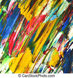 Variegated oil painting texture with brush strokes. Colorful...