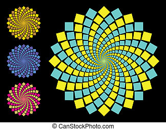 Variegated Patterns - vector illustration of variegated...