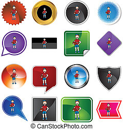 variety icon set isolated on white background.