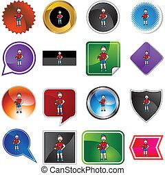 variety icon set isolated on white background.