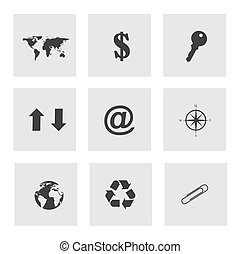 variety icons over gray background vector illustration