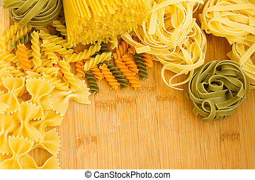 Variety Italian pasta