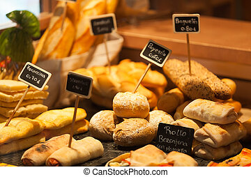 Variety of Bread in a Shop