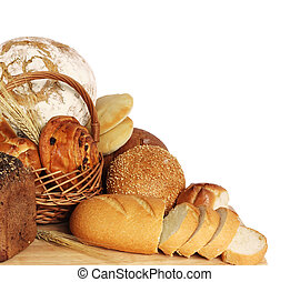Variety of bread - large variety of bread, still life ...