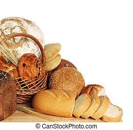 Variety of bread - large variety of bread, still life...