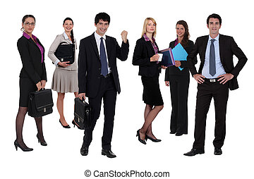 Variety of business people