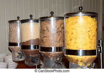 Variety of cereal containers