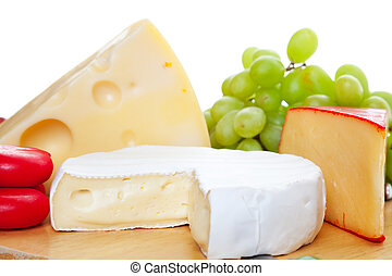 Variety of Cheeses - A variety of cheeses served ...
