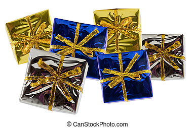 variety of colorful gift boxes