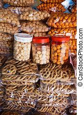 Asian sweets at market