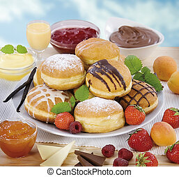 Variety of donuts - Donuts with various kinds of filling