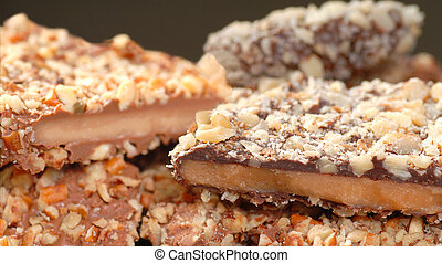 Variety of English Toffee with a shallow depth of field - ...