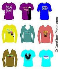 flirty shirts - variety of flirty shirts