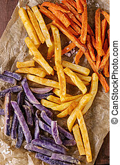 Variety of french fries
