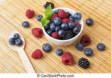 Variety of fresh berries