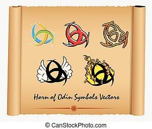 Variety of Horn of Odin Symbols