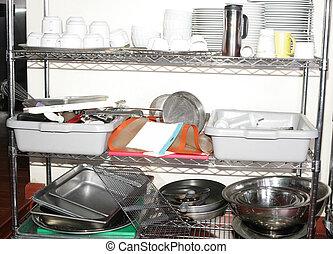 Variety of kitchen utensils on counter