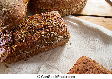 Variety of loaves of bread - A great variety of loaves of...