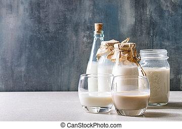 Variety of non-dairy milk