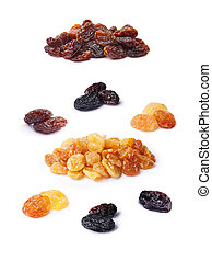 Variety of raisins set - Three variety of natural seedless...