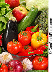 Variety of raw vegetables