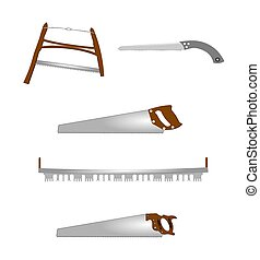 variety of saws for use around home in spring